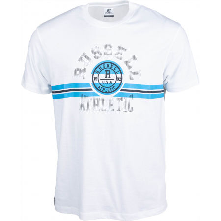 Russell Athletic COLLEGIATE STRIPE CREWNECK TEE SHIRT