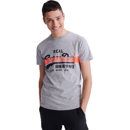 Superdry VL CROSS HATCH TEE
