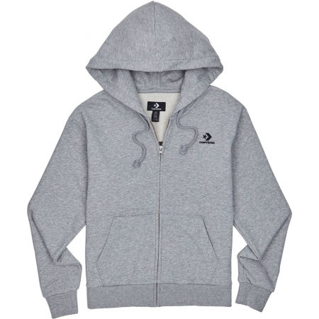 Converse WOMENS EMBROIDERED STAR CHEVRON FULL ZIP HOODIE FT