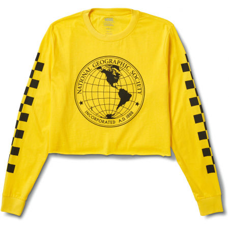Vans WM NAT GEO LS CROP CYBER YELLOW