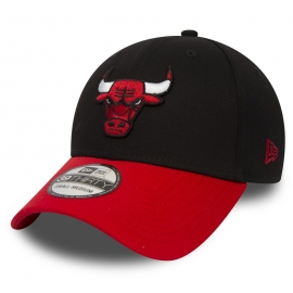 New Era 39THIRTY NBA BLACK CHICAGO BULLS