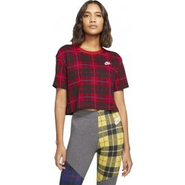 Nike NSW TEE FUTURA PLAID CROP